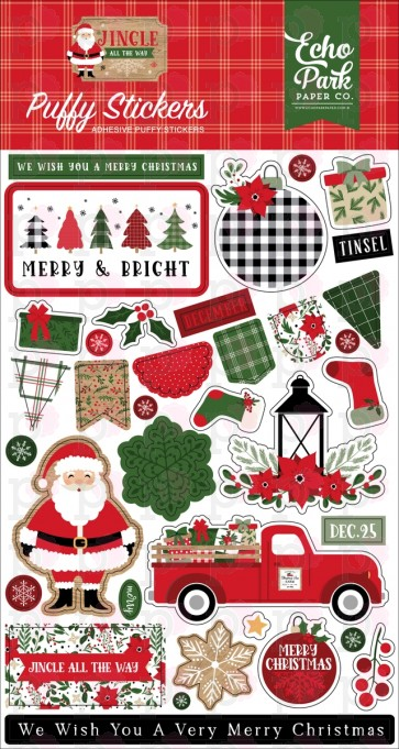 Puffy Stickers - Jingle All The Way - Echo Park