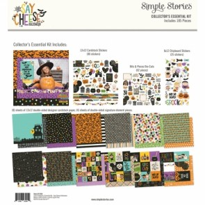 """Say Cheese Halloween - Simple Stories Collector's Essential Kit 12""""X12"""""""