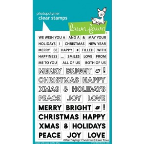 Offset Sayings: Christmas - Lawn Fawn Stamp Set