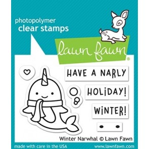 Winter Narwhal - Lawn Fawn Stamp Set