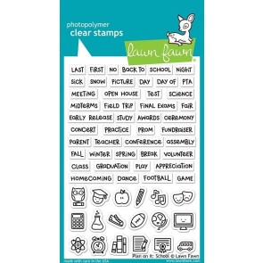 Plan on It: School - Lawn Fawn Stamp Set