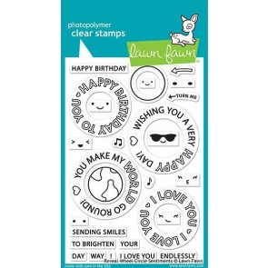 Circle Sentiment Reveal Wheel - Lawn Fawn Stamp Set