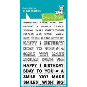 Offset Sayings: Birthday - Lawn Fawn Stamp Set