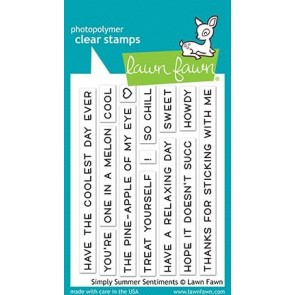 Simply Summer Sentiments - Lawn Fawn Stamp Set