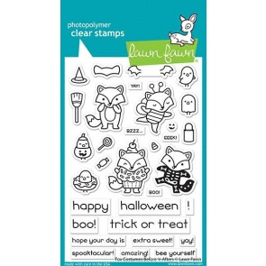 Fox Costumes Before 'n Afters - Lawn Fawn Stamp Set