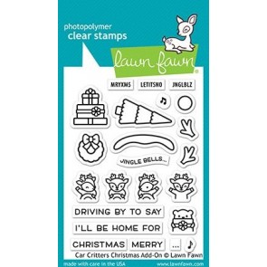 Car Critters Christmas Add-On - Lawn Fawn Stamp Set