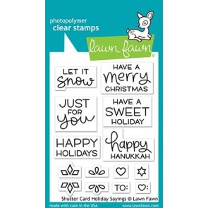 Shutter Card Holiday Sayings - Lawn Fawn Stamp Set