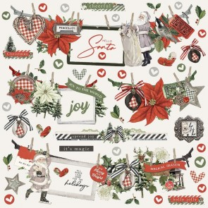 Simple Vintage Rustic Christmas 12x12  Banner Stickers - Simple Stories