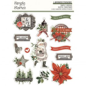 Simple Vintage Rustic Christmas Layered Stickers - Simple Stories