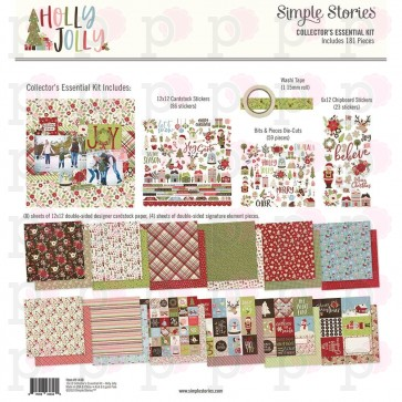 "Holly Jolly - Simple Stories Collector's Essential Kit 12""X12"""