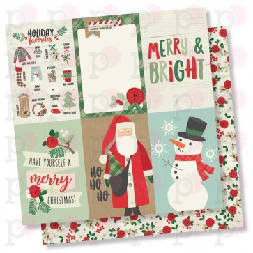 """4x6 Vertical Elements - Merry & Bright - Carta 12x12"""" Simple Stories"""
