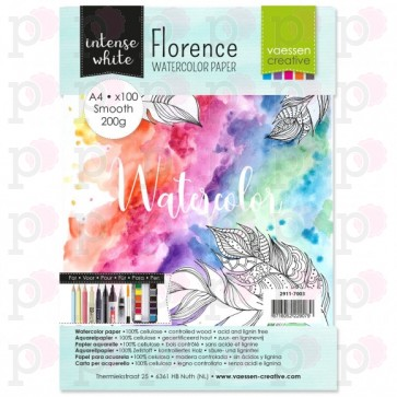 A4 Watercolor Paper Smooth White 200g - 100 fogli