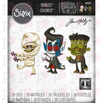 Costume Party Colorize - Fustella Sizzix Thinlits by Tim Holtz