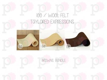 Browns/Creams Bundle - Feltro Taylored Expressions