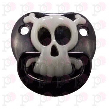 "Ciuccio Billy Bob ""Black Pirate Skull"" (Pirata)"
