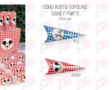 Cono Busta Topolino Disney Party (20 pezzi)