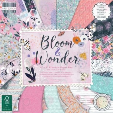 Bloom and Wonder - Blocco di carte First Edition 20x20 cm