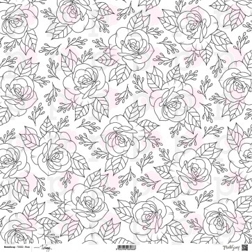 Rosa - Linea Tommy Art - Cartoncino Double Face Moda Scrap 30x30 cm