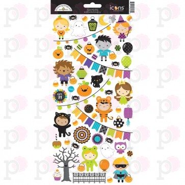 Pumpkin Party Icons Stickers - Doodlebug