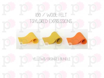 Yellows/Oranges Bundle - Feltro Taylored Expressions