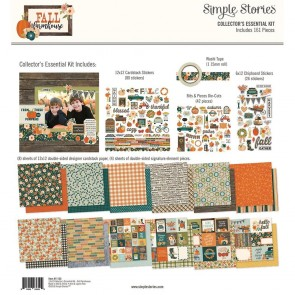 "Fall Farmhouse - Simple Stories Collector's Essential Kit 12""X12"""
