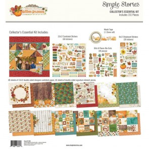 "Autumn Splendor - Simple Stories Collector's Essential Kit 12""X12"""