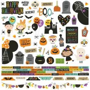 "Say Cheese Halloween - Combo Stickers 12x12"" - Simple Stories"