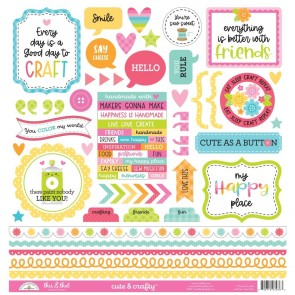 Cute & Crafty This & That Sticker - Doodlebug