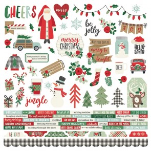 "Combo Stickers - Merry & Bright - Carta 12x12"" Simple Stories"