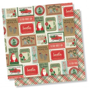 "Celebrate the Season - Merry & Bright - Carta 12x12"" Simple Stories"
