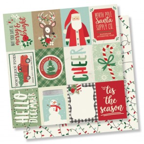 "3x4 Elements - Merry & Bright - Carta 12x12"" Simple Stories"