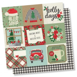 "4x4 Elements - Merry & Bright - Carta 12x12"" Simple Stories"