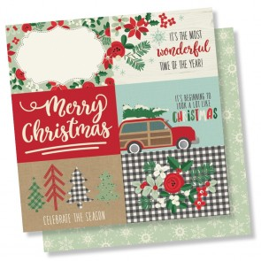 "4x6 Horizontal Elements - Merry & Bright - Carta 12x12"" Simple Stories"
