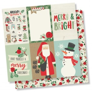 "4x6 Vertical Elements - Merry & Bright - Carta 12x12"" Simple Stories"