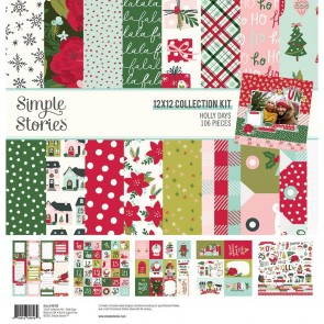 """Holly Days - Simple Stories Collection Kit 12X12"""""""