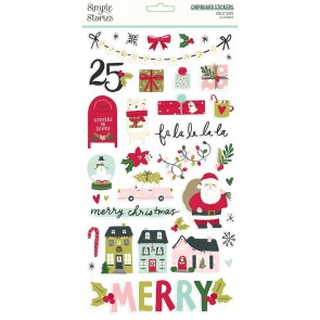 Holly Days 6x12 Inch Chipboard Stickers - Simple Stories