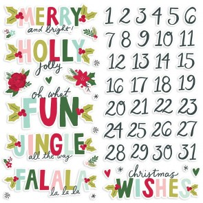Holly Days Foam Stickers - Simple Stories