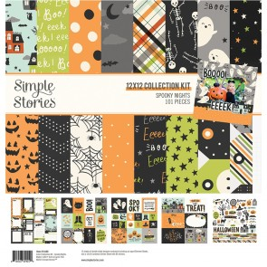 """Spooky Nights - Simple StoriesCollection Kit 12""""X12"""""""