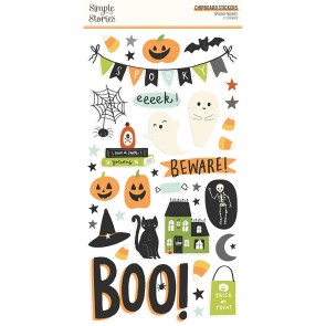 Spooky Nights Chipboard Stickers - Simple Stories