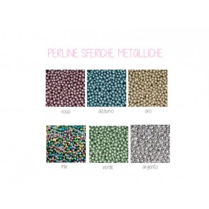 Perline sferiche metalliche