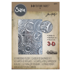 Mechanics - 3D Texture Fades Embossing Folder Sizzix by Tim Holtz