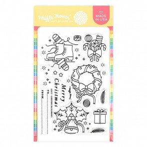 Christmas Tag Elements - Timbro Waffle Flowers