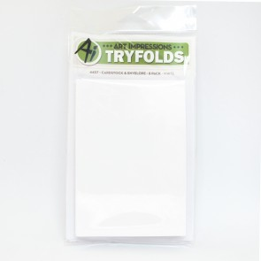 White Tryfold Cardstock and Envelope Pack - Art Impressions