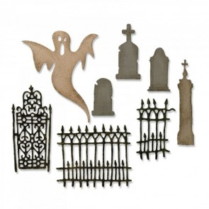 Village Graveyard - Fustella Thinlits by Tim Holtz
