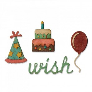 Birthday Sidekick Side-Order Set - Fustella Sizzix Thinlits by Tim Holtz