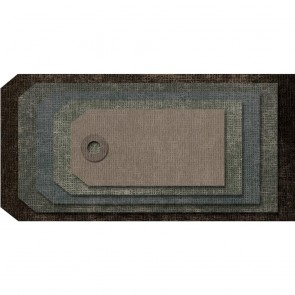 Stacked Tags - Fustella Sizzix Thinlits by Tim Holtz