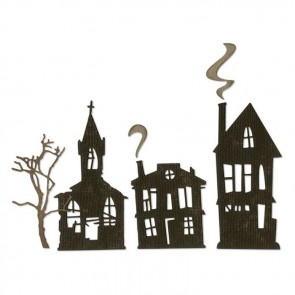 Ghost Town - Fustella Sizzix Thinlits by Tim Holtz