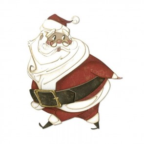 Jolly St. Nick - Fustella Sizzix Thinlits