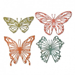 Scribble Butterfly - Fustella Sizzix Thinlits by Tim Holtz