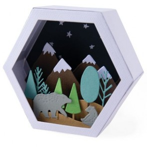 Box Winter Scene - Fustella Sizzix Thinlits